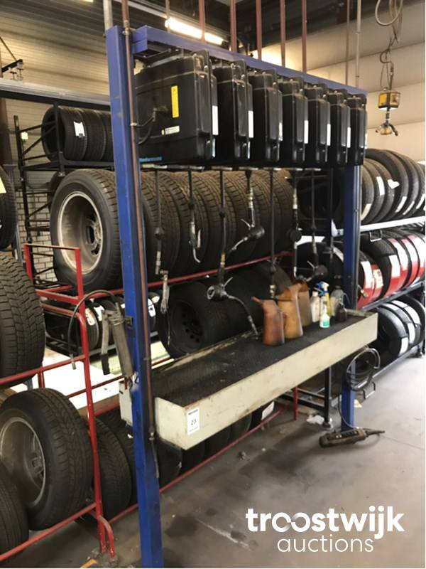 7-fold hose reel oil filling bar - Troostwijk