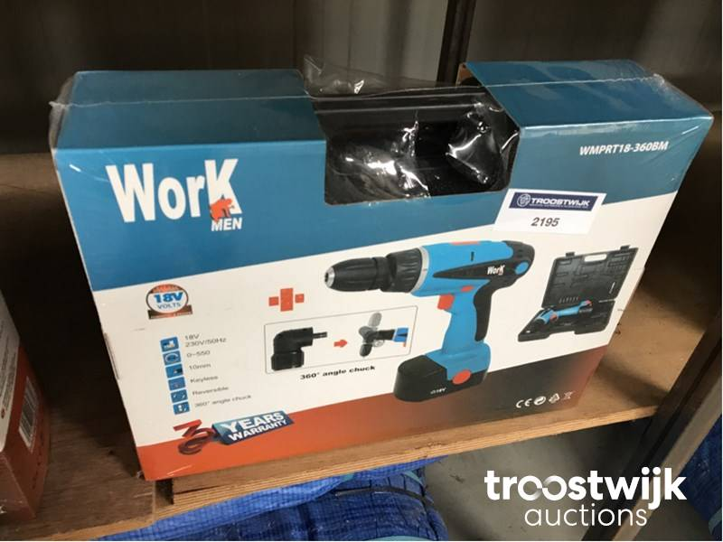 Workmen WMPRT18-360BM cordless drill- threading machine - Troostwijk