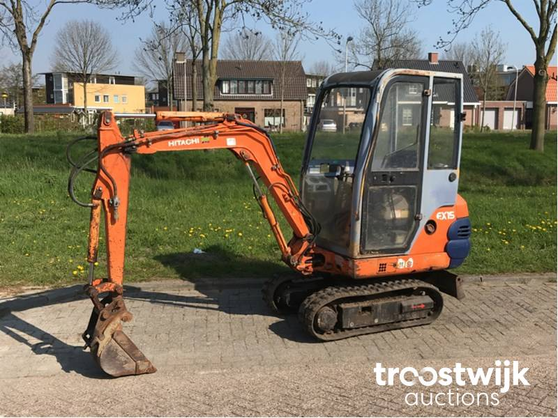 Hitachi EX15 midi excavator - Troostwijk