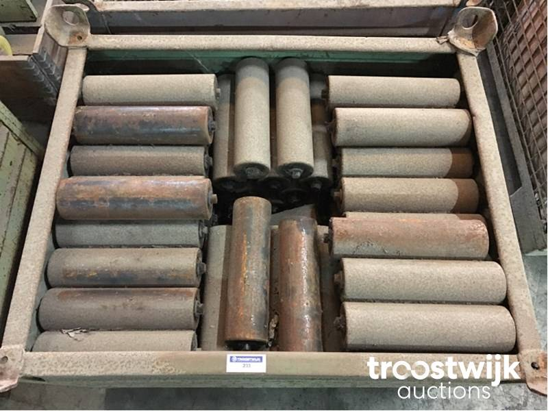 lot of steel conveyor rollers - Troostwijk