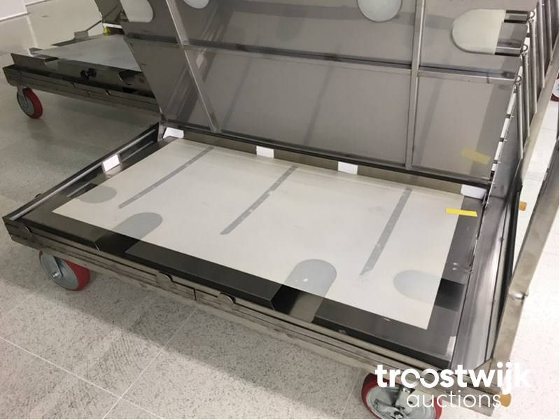 stainless steel mobile plate dolly's - Troostwijk