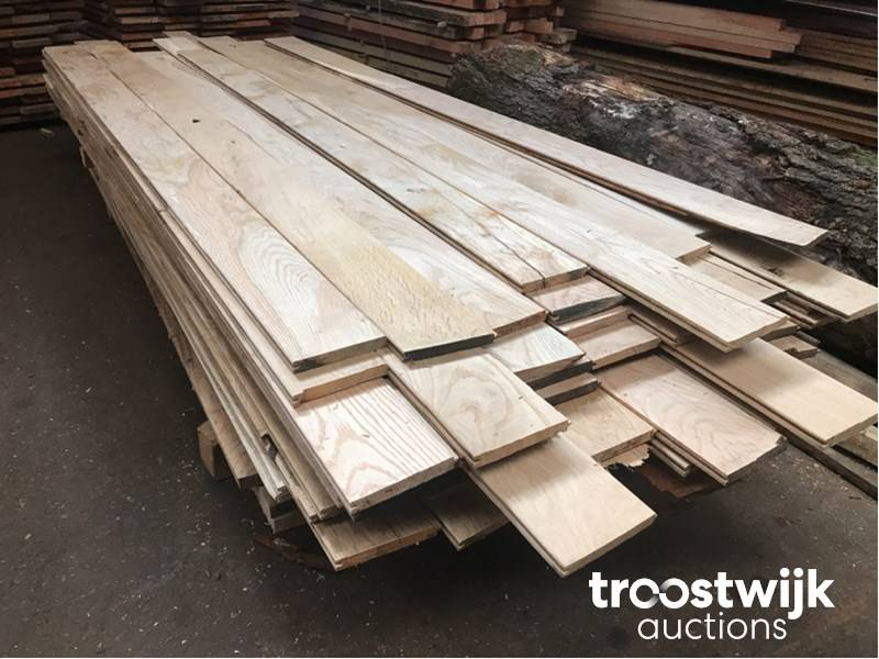European oak wood boards groove knife parts - Troostwijk