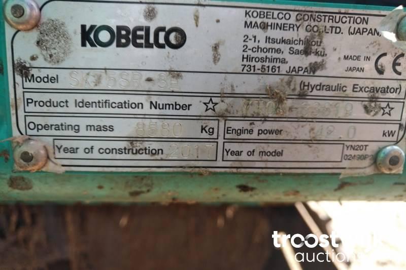 Kobelco SK75-SR3 tracked Excavator - Troostwijk
