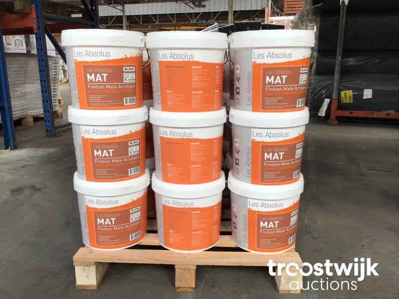 Matte Finish Paint >> Les Absolus 18 Pots De 10 Litres Acrylic Matte Finish Paint