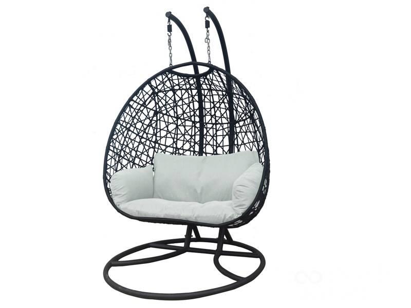 Hangstoel Voor 2 Personen.Luxury Wellness Lw Hs 31 Zwart 2 Persoons Hangstoel Voor In