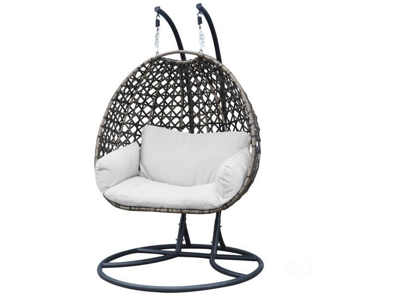 Hangstoel Voor 2 Personen.Luxury Wellness Lw Hs 31 Bruin 2 Persoons Hangstoel Voor In