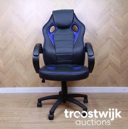 Loods 5 Bureaustoel.Race Black Blue Bureaustoel Troostwijk