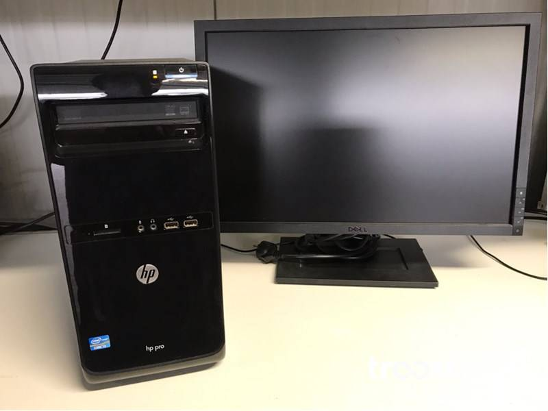 HP pro 3500 tower computer with 22