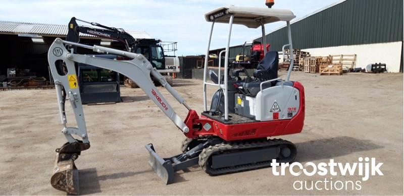 2017 Takeuchi TB216 tracked Excavator - Troostwijk
