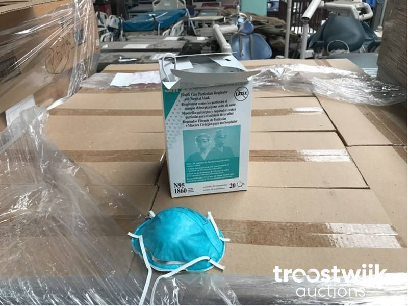 Troostwijk Boxes Masks - Medical N95 Care 1860 Health