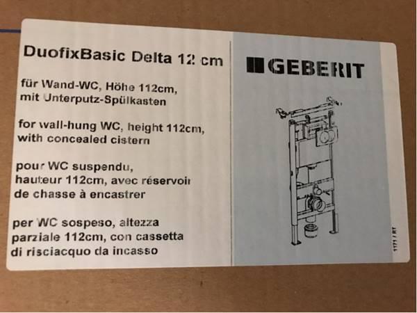 Geberit Duofix Basic Delta 12 Cm Toilets Sets Troostwijk