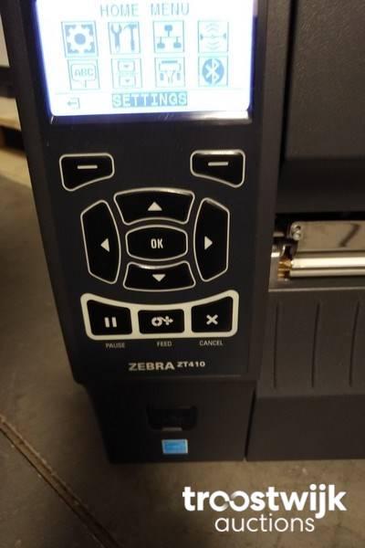 Zebra ZT410 300DPI Thermal printer for labels - Troostwijk