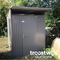 Metall-Gartenhütte