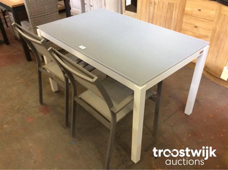 Garden prestige table de jardin en verre trempé alu - Troostwijk