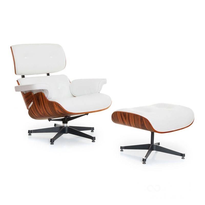 Lounge Stoel Met Voetenbank.Wit Lounge Chair Met Ottoman Voetenbank Troostwijk