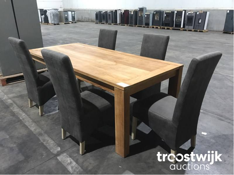 Teak Dining Room Table With 5 Chairs Troostwijk