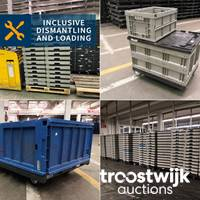 Online-Auktion von Kleinladungsträgern, Kisten und Transportboxen