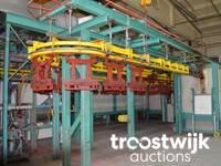 Online-Auktion von Pulverbeschichtungsanlage sowie Lager- und Werkstattausstattung
