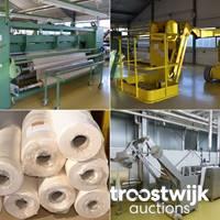Online-Auktion von Plissiermaschinen, Transferdruckmaschinen und Zubehör zur Herstellung von Plissees