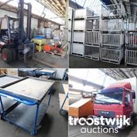 Online-Auktion von Logistik, Gastronomie- und Industriebedarf aus Lagerauflösung
