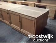 315. wooden 2-doors low model cabinet