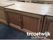 317. wooden 2-doors low model cabinet
