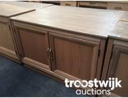 319. wooden 2-doors low model cabinet