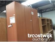 325. 1/2-doors wooden cabinets
