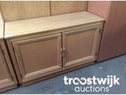 327. wooden 2-doors low model cabinet