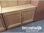 329. wooden 2-doors low model cabinet