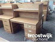 337. wooden 4-drawers writing desk with top